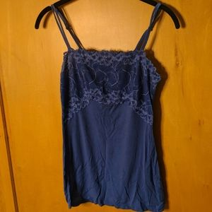 Blue Lacey Cami